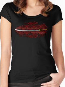 Katana with Quote and Blood Women's Fitted Scoop T-Shirt