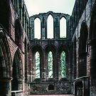 Ruins at end of old church Lanercost Priory Cumbria England 198405260039 by Fred Mitchell