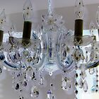 Gorgeous american 1950's glass crystal chandelier   by bkind2animals