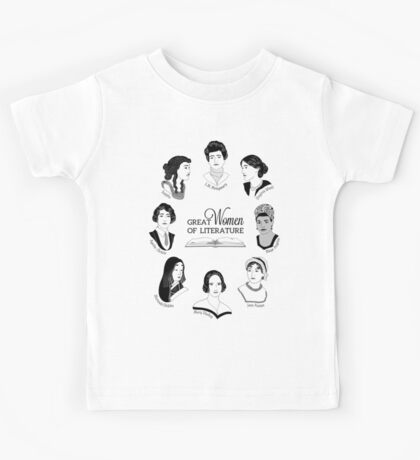 Great Women of Literature Kids Tee