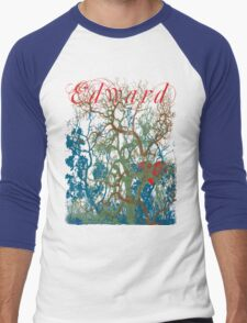 Tangled Forest with Beating Heart and the word EDWARD Men's Baseball ¾ T-Shirt