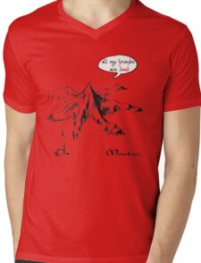 The really lonely mountain Mens V-Neck T-Shirt