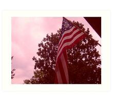 American flag from a childs view Art Print