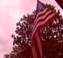 American flag from a childs view by bkind2animals