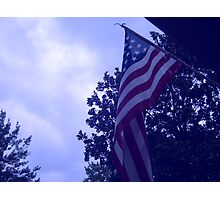 American flag blue hue from a childs view Photographic Print