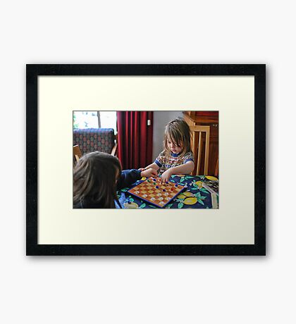 Wrong move Framed Print