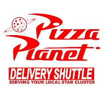 Pizza Planet Delivery Shirt Photographic Print