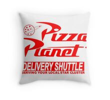 Pizza Planet Delivery Shirt Throw Pillow