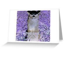 Victorian evil gothic Gargoyle purple hues altered art from a childs view Greeting Card