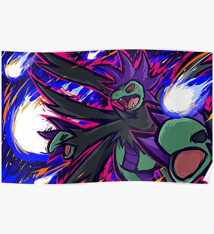Shiny Hydreigon | Draco Meteor Poster