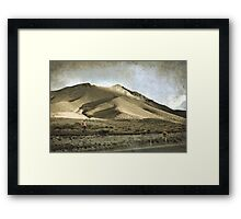 Sunset at the pass Framed Print