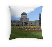 Montana State Capitol Helena Throw Pillow