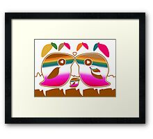 Tropical Love Bird Family Framed Print