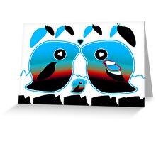 Sunrise Love Bird Family Greeting Card