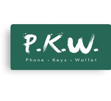 PKW- Phone Keys Wallet Check - logo Canvas Print