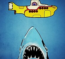 Jaws-Yellow Submarine  by willjohnstone