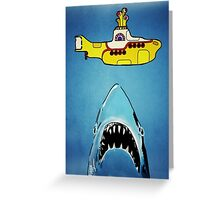 Jaws-Yellow Submarine  Greeting Card