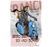 Scooter Chics in Paris Poster
