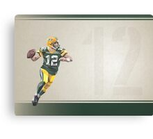 Aaron Rodgers Low Poly Art Canvas Print