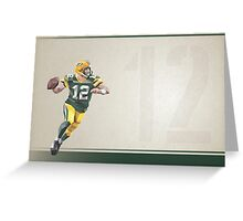 Aaron Rodgers Low Poly Art Greeting Card