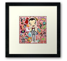 I KNOW YOU ARE, BUT WHAT AM I? Framed Print