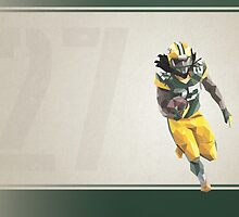 Eddie Lacy Low Poly Art by abowersock