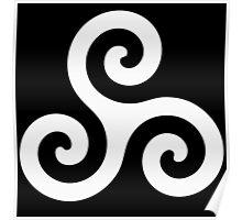 Triskele Chest Design (White) Poster