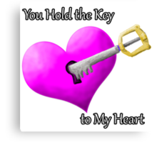 Kingdom Hearts Valentines Canvas Print