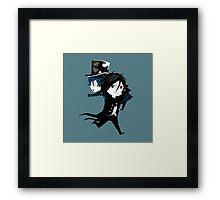 Ciel and Sebby-Chan Framed Print