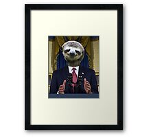 Obama Sloth Framed Print