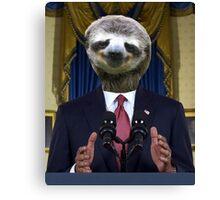 Obama Sloth Canvas Print