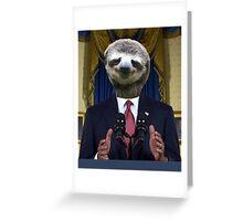 Obama Sloth Greeting Card
