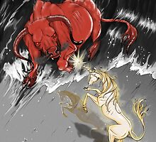 The Last Unicorn Battles The Red Bull by Michelle Tribble