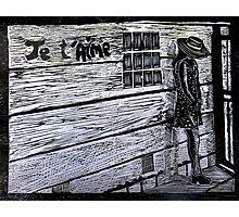 Je'taime-Woodcut Photographic Print