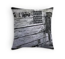 Je'taime-Woodcut Throw Pillow