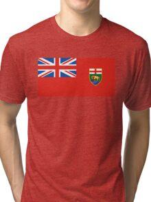 flag of Manitoba Tri-blend T-Shirt