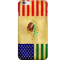 MEXICAN AMERICAN FLAG - 017 iPhone Case/Skin