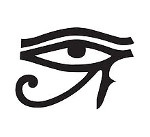 Eye of Horus White by John Girvan