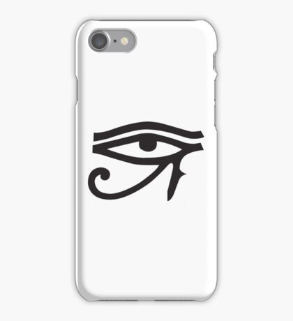Eye of Horus White iPhone Case/Skin