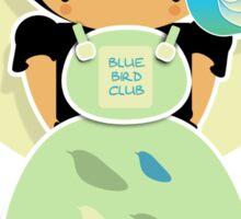 Blue Bird Club TShirt Sticker