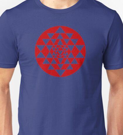 Sri Yantra Navy Unisex T-Shirt