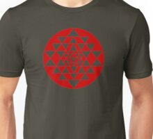 Sri Yantra Black Unisex T-Shirt