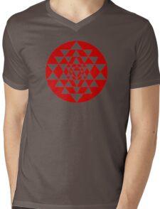 Sri Yantra Black Mens V-Neck T-Shirt