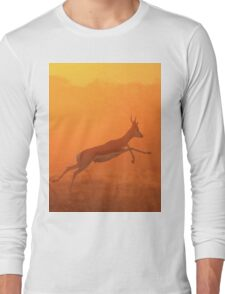 Springbok - Jumping for Gold - African Wildlife Long Sleeve T-Shirt