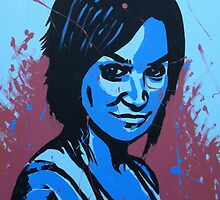 FRANKY DOYLE POP ART PAINTING by AMBERSREALM