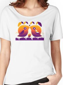 Sunset Love Birds TShirt Women's Relaxed Fit T-Shirt