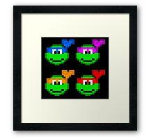 8-bit Turtles Framed Print