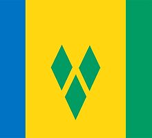 flag of Saint Vincent and the Grenadines by tony4urban