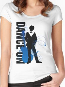 Music Silhouette - Winter Women's Fitted Scoop T-Shirt