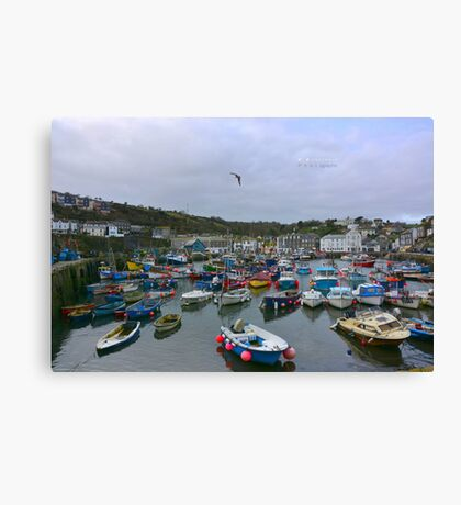 """ Little Fishing Port "" Canvas Print"